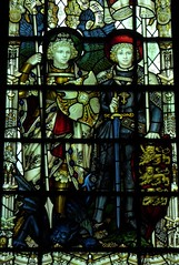 St Michael & St George (Aidan McRae Thomson) Tags: southwell minster cathedral nottinghamshire stainedglass window kempe
