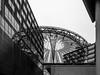 Berlin Potsdamer Platz (neongelbschwarz) Tags: potsdamerplatz sonycenter spiegelungen sw bw schwarzweis dach architektur