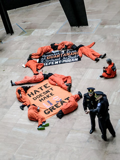 Members of Witness Against Torture Hold a Demonstration Representing the Nine Men Killed Without Charge or Trial at Guantánamo