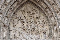 Rouen (Seine-Maritime) - Cathédrale Notre-Dame - Façade occidentale - Tympan du portail central - Arbre de Jessé (Morio60) Tags: rouen seinemaritime 76 normandie cathédrale notredame jessé