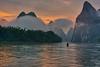 Sunrise on the Li River (Jim.J.H) Tags: cormorantfisherman karst xingping liriver sunrise karstmoutains china guangxi