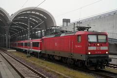 P1060007 (Lumixfan68) Tags: eisenbahn züge loks baureihe 112 elektroloks deutsche bahn db regio lew hennigsdorf puma modus wagen