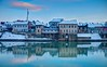 My old city on the river (malioli) Tags: city cityscape twilight light reflection water river snow cold sky clouds riverside blue kupakarlovac croatia europe hrvatska canon hdr