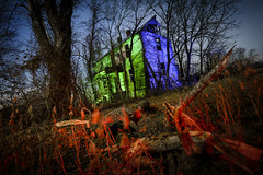 Green-Blue House (Notley) Tags: dutchangle rural missouri notley notleyhawkins 10thavenue httpwwwnotleyhawkinscom missouriphotography notleyhawkinsphotography lightpainting bluelight greenlight blue green night nocturne 光绘 光繪 lichtmalerei pinturadeluz ライトペインティング प्रकाशपेंटिंग ציוראור اللوحةالضوء abandoned sky longexposure ruralphotography trees chartitoncountymissouri facade fall windows 2016 red redlight rgb outdoor serene architecture house 2017 january