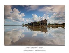 ... the weather is back ... (liewwk - www.liewwkphoto.com) Tags: sekinchan selangor kualaselangor 适耕庄 reflection blue sky malayvillagehouse village paddy cpl gnd 45h liewwk liewwknature liewwkphotohunters photohunters