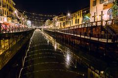 Naviglio Pavese a Milano (Astarotte73) Tags: milano navigli navigliopavese bynight movida christmaslights reflexion happiness colors longexposure darsena sigma35mmf14art canal starbursts