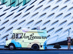 Afternoon in Downtown LA (Robert Borden) Tags: street icecream people candid architecture downtown thebroad museum art pattern texture northamerica usa westcoast california socal la losangeles grand colburnschool iphone