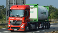 CZ - GCA Omega Servis MB New Actros 1843 Streamspace (BonsaiTruck) Tags: gca omega mb actros streamspace lkw lastwagen lastzug truck trucks lorry lorries camion