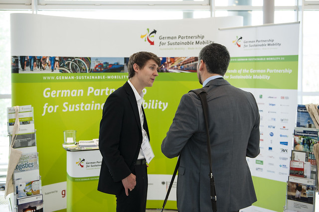 At the German Partnership for Sustainable Mobility stand