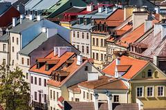 Lublin (pietkagab (on the road)) Tags: above trip morning travel windows light architecture photography europe cityscape colours over poland polska roofs oldtown chimneys malopolska lublin staremiasto citybreak lesserpoland pentaxk5ii pietkagab piotrgaborek