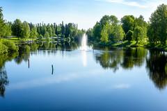 Iisalmi (Tuomo Lindfors) Tags: reflection water fountain suomi finland stream vesi heijastus iisalmi virta suihkulhde colorefexpro niksoftware viveza theacademytreealley paloisvirta