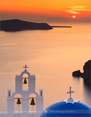 Agios Theodori Church - Santorini - Greece (~ Floydian ~ ) Tags: sunset seascape church saint architecture canon island greek islands mediterranean catholic dusk religion culture belltower santorini greece cyclades firostefani aegeansea gerasimos floydian canoneos1dsmarkiii stgerasimos henkmeijer agiostheodori aghioitheodoroi