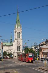 150604_Bratislava_041 (Rainer Spath - off for skiing) Tags: trolley tram trams tramway bratislava slowakei tatra dpb čkd pressburg slovenskarepublika t6a5 strasenbahn bratislavskýkraj električky dopravnýpodnikbratislava