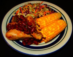 Hot Chile Red Bean Chicken (ezigarlick) Tags: hot chicken dill beans corn onions rosemary cabbage garlic carrots parsley coleslaw bellpepper redbeans redchile