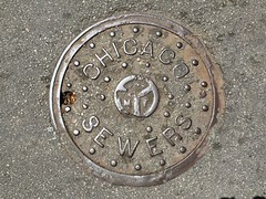 CHICAGO SEWERS (Nick Sherman) Tags: lettering manhole concentric nubs