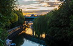 Late sun reflections (Peter Leigh50) Tags: bridge sunset station river bath spa avon halfpenny