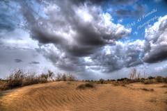 Waiting the rain! (Ali:18 (علي الطميحي)) Tags: rain sand desert dune saudi saudiarabia hdr jazan منظر photomatix السعودية مطر سماء غيوم طبيعة صحراء رمال jizan أمطار جيزان sabya جازان صبيا