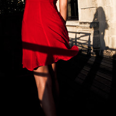 Flag (Christine Lebrasseur) Tags: shadow red people woman motion france art 6x6 canon dress legs body teenager 500x500 léane allrightsreservedchristinelebrasseur