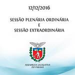 Sessões Plenárias Ordinária e Extraordinária 12/12/2016