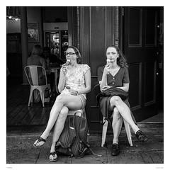 Ice Cream Girls (sdc_foto) Tags: sdcfoto street streetphotography pentax pentaxart bw blackandwhite london icecream girls