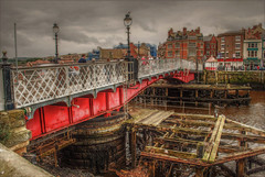 Whitby Swing Bridge (diminji (Chris)) Tags: whitby yorkshire loveyorkshire northyorkshire hdr hdrtoning bridges swingbridge whitbyswingbridge riveresk structures