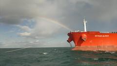 2013-11-21 (carlogiov@gnoli) Tags: ancona adriatico sea falconara hull job lavoro ormeggio tanker rainbow ropes eyes work bow nave mare mooring manovra