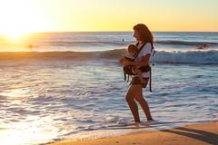 Summer Memories (.GABRIELLE.) Tags: people stranger life woman baby sunset beach moment memories youth ocean summer france trucvert wave capferret canon 5dmarkiii 70300mm 70300mmf456isusm zoomlens