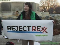 Reject Rexx (Greenpeace USA 2016) Tags: tillerson capitolhill exxonmobile exxon statedepartment secretary foreignrelations trump climate denier oil heaaring diplomat exxonknew rejectrexx washington districtofcolumbia unitedstates usa