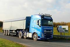 Les Clarkson Bulk Haulage 25th October 2016 A614 Double Bridges (2) (asdofdsa) Tags: hgv haulage transport trucks thorne eastcowick a614 volvo