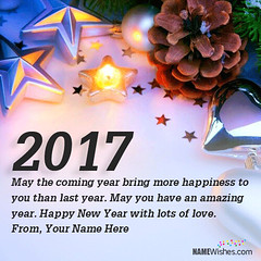 New Year Wishes With Name Editing (SamAlex1122) Tags: goodbye goodbyeyear goodbye2016 2016 newyearseve newyearsevequote quotes newyearsevesaying newyeareveimage newyearimages newyear year year2017 newyear2017 newyearsday newyearswishes happynewyear happynewyearwallpaper happynewyearimages cards ecards greetings newyearcards 2017cards 2017
