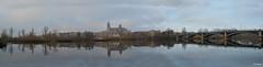 PANORAMICA (mañega) Tags: panoramica rio catedral reflejos serenidad calma salamanca castillayleon bridge arches