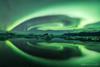 Aurora Vortex (Marco Calandra Photography) Tags: jokursarlon reflection aurora auroraborealis floating glacierlagoon ice iceland lagoon lake northernlight reflect austurland islanda is