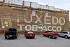 Tuxedo Tobacco, LaFollette, TN (Robby Virus) Tags: lafollette tennessee tn tuxedo tobacco ghost sign signage brick wall faded ad advertisement