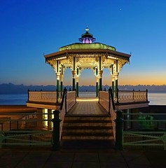 The Bandstand Brighton (baxter.ad) Tags: brighton bandstand dusk night blue venus sussex sea coast beach sky colour england uk