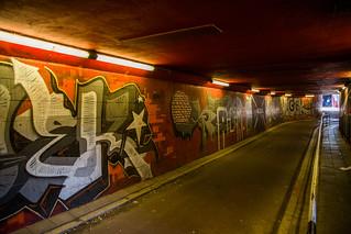 Maastricht (Nederland - Pays-Bas) - Murals in a Tunnel