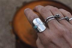 saddle up (ashleyweber) Tags: ashleyweber ashleyweberdesigns ashley weber jewelry metalsmith sterling silver handcrafted maker handmade turquoise agate saddle ring necklace