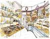 Chocolats de Noël, Melle, Maison Caillon Grégoire (Croctoo) Tags: croctoo croquis croctoofr aquarelle watercolor boutique patisserie chocolatier chocolat boulanger boulangerie pains melle poitou poitoucharentes magasin