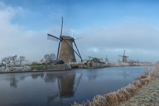 little winter wonderland at Kinderdijk