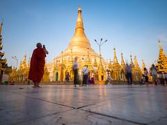Shwedagon Pagoda (TeunJanssen) Tags: myanmar burma temple travel traveling backpacking olympus omd omdem10 monk golden yangon shwedagon pagoda nd110 longexposure 918 918mm asia southeastasia stupa