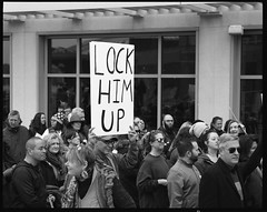 Lock Him Up (thereisnocat) Tags: pentax pentax67 165mm protest womensmarch womensmarchap asburypark monmouthcounty newjersey nj fp4