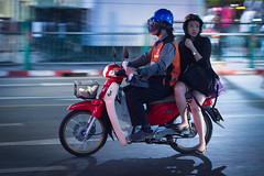 Hooked on a Feeling.. (VictorLK) Tags: bangkok thailand motorbike scooter siam urban panning street streetphotography nikon