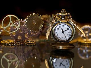 Pocket Clock-Macro Mondays-contraption- Time flies