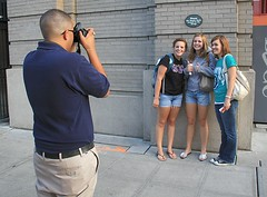 Mariners Event Staff - Taking photo's of Fans (dloran01) Tags: seattle washington mariners baseball fans eventstaff safeco field