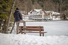 Seewirt (Heinrich Plum) Tags: heinrichplum plum fuji xe2 xf1855mm funkfernauslöser wirelessremoteshutterrelease me winter winterlandschaft thumsee berchtesgadenerland snow schnee see lake zugefroren icebound selfie alps alpen bavaria bayern