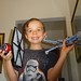 Grandson number two and tie-fighter and another Lego he assembled