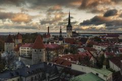 Tallinn - Estonia (Dennis van Dijk) Tags: tallinn estonia baltic state sea capital city eu europe european union euro old town russian ussr cccp soviet era medieval hil top tourism travel wanderlust canon skyline churches church orthodox wall cityscape sunset clouds cloudporn wind winter time walled roof tiles beauty colorfull love amazing view sight sightseeing
