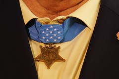 Rick Perry Presidential campaign announcement at the Addison Airport  in Addison,TX on 06/04/2015.Michael Edwin Thornton  retired U. S. Navy SEAL , recipient of  the Medal of Honor, for his service in Vietnam.File Photo by Jeff J. Newman. (JEFF J NEWMAN PHOTOGRAPHER) Tags: usa addisontx medalofhonorvietnamveteransrepublicanspoliticsrickperry medalofhonorvietnamveteransrepublicanspoliticsrickperry2016presidentialcampaign