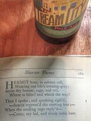 Sound advice... (tobyhume) Tags: city beer poetry poem drink johnson cream ale pale brewery milwaukee samuel lakefront miltown quatrain