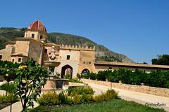 Monestir de Simat de la valldigna (carlosrodri1986) Tags: fountain nikon fuente entrance entrada 1855mm monasterio palacio d3300