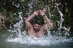 Neptune (XIMOLO) Tags: water rio river agua nikon exterior drop gotas hungry neptuno enfado d5100